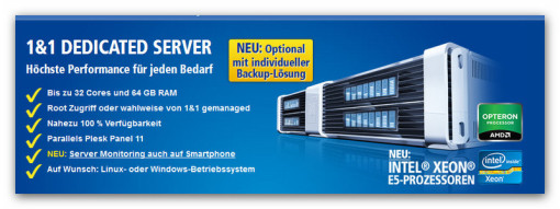 1&1 Dedicated Server, Virtual Server, Cloud Server