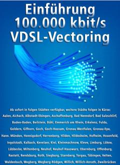 Schnelles Internet 100000kbit/s VDSL-Vectoring