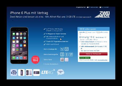 iPhone 6 Plus mit Vertrag Zwei Netze sind besser als eins