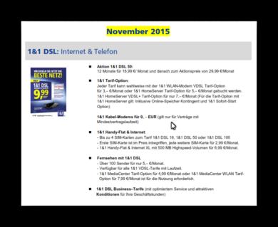 1&1 DSL:  Internet & Telefon